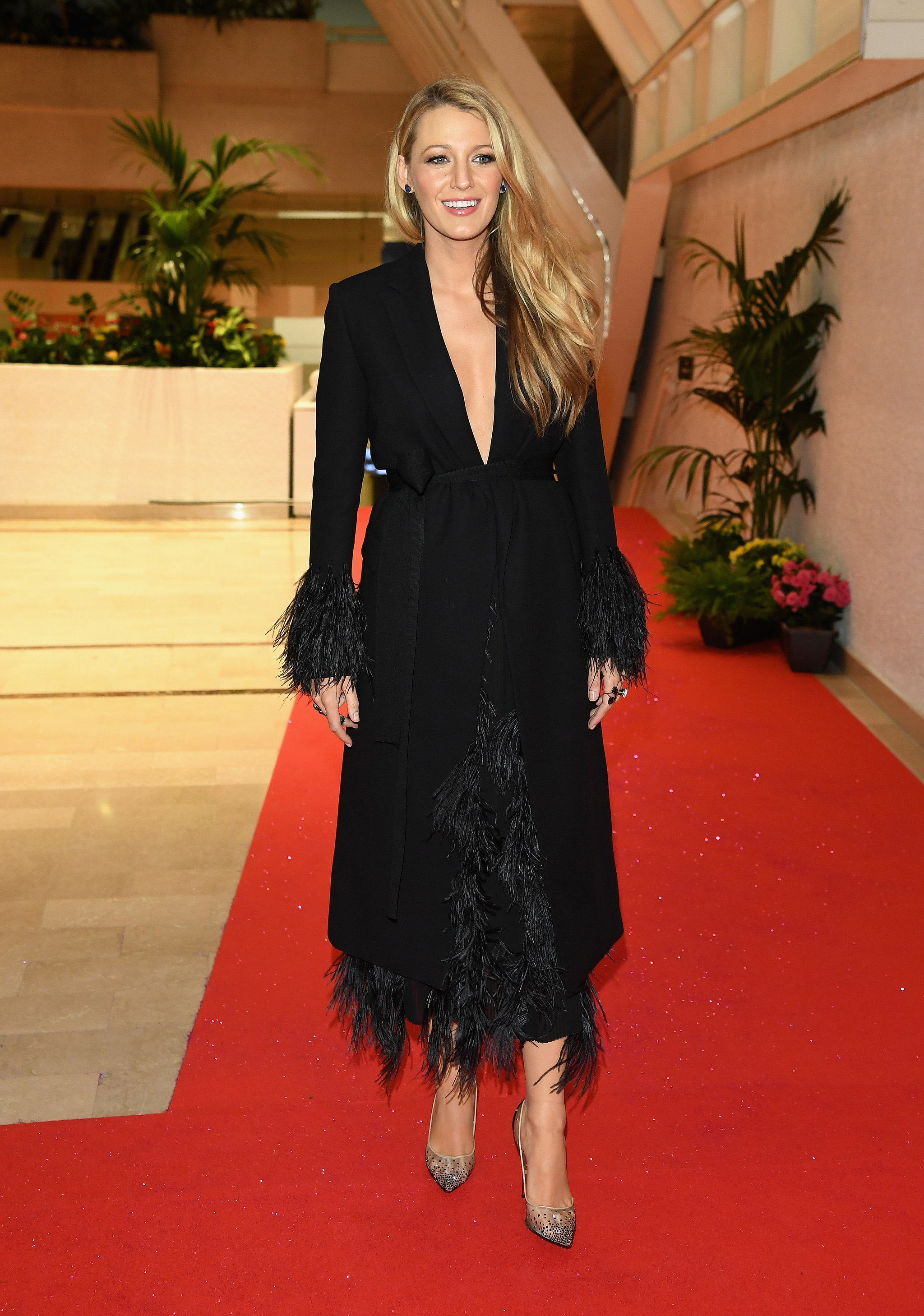 Blake-Lively-Feathered-Jacket-Cannes